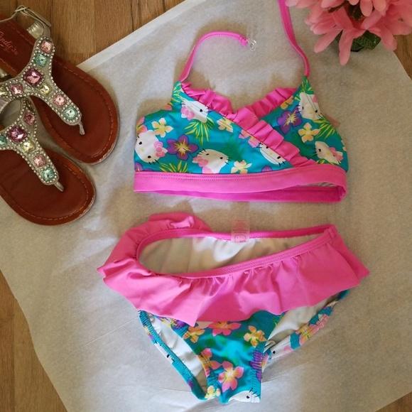 91559511c7 Hello Kitty Other - Hello Kitty Bikini Girls 6 6X